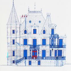 Un dessin de la façade nord
