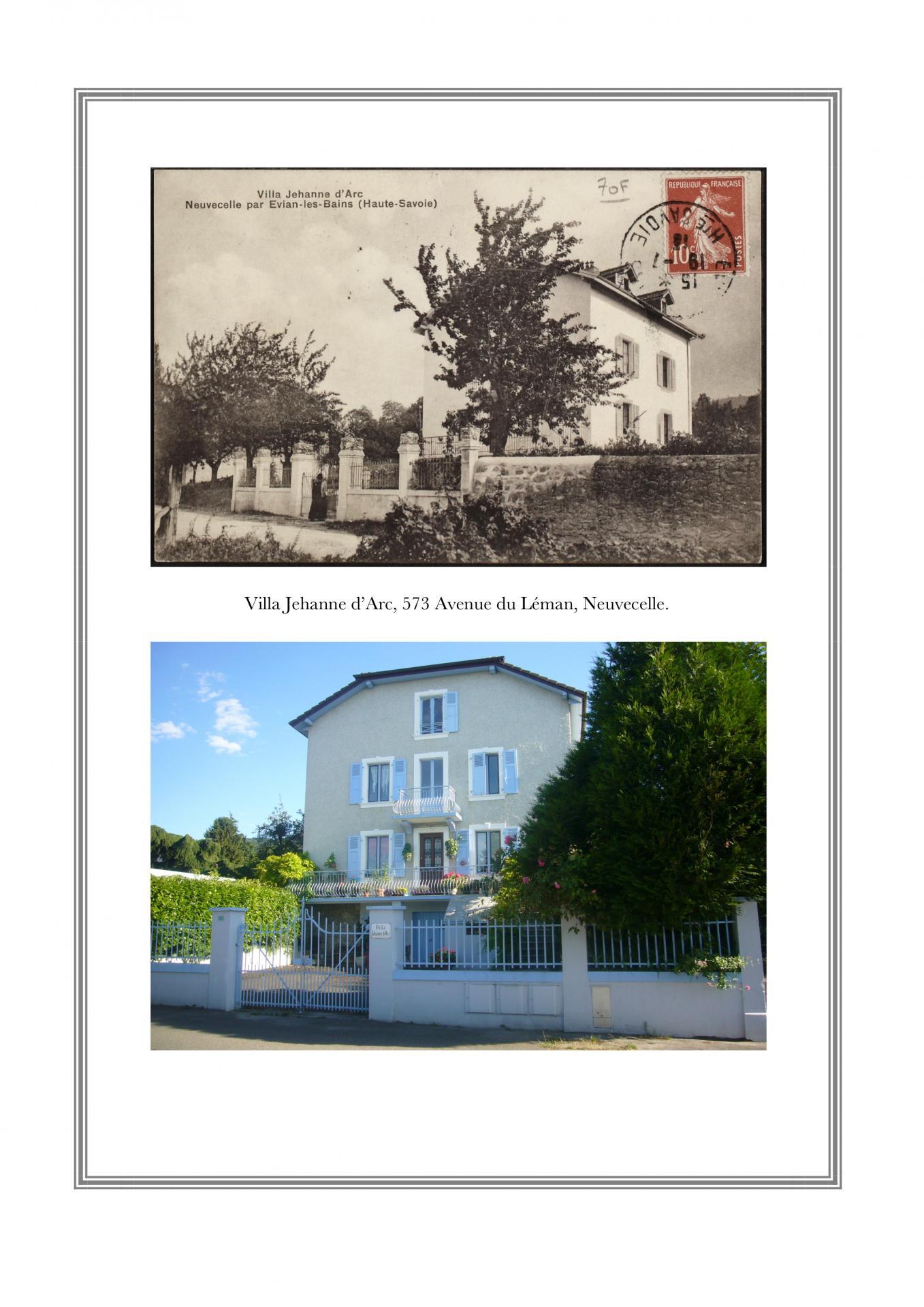 Villa Jehanne d'Arc, 573 avenue du Léman, Neuvecelle
