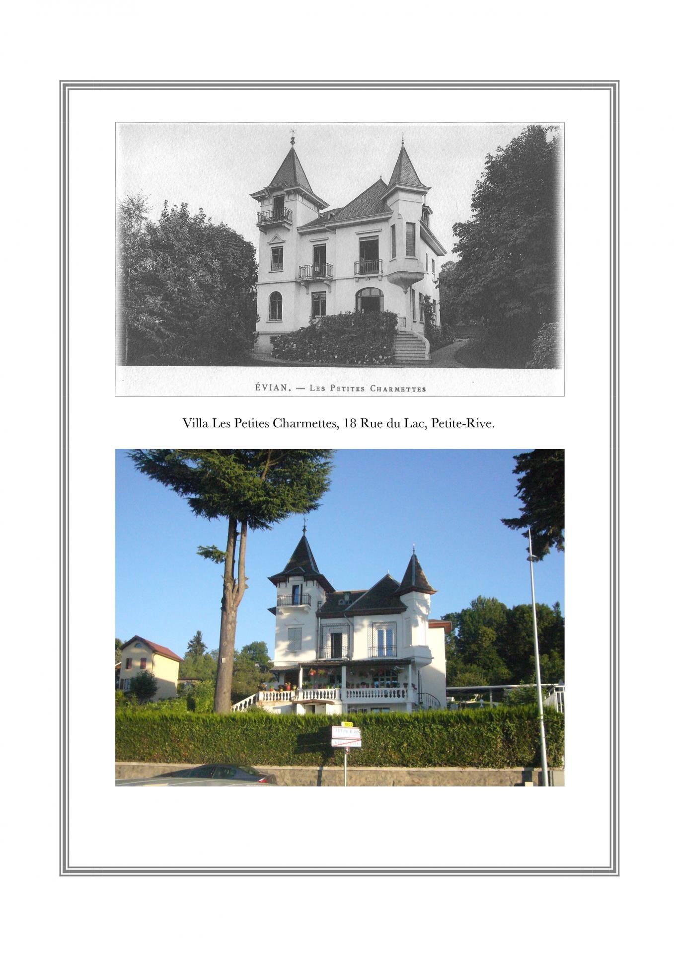 Villa Les petites Charmettes, 18 rue du Lac, Petite-Rive