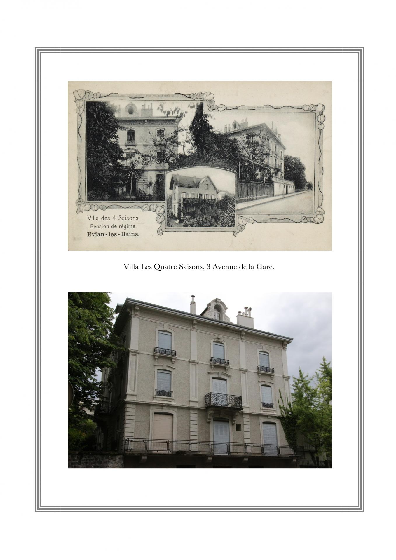 Villa Les Quatres Saisons, 3 avenue de la Gare
