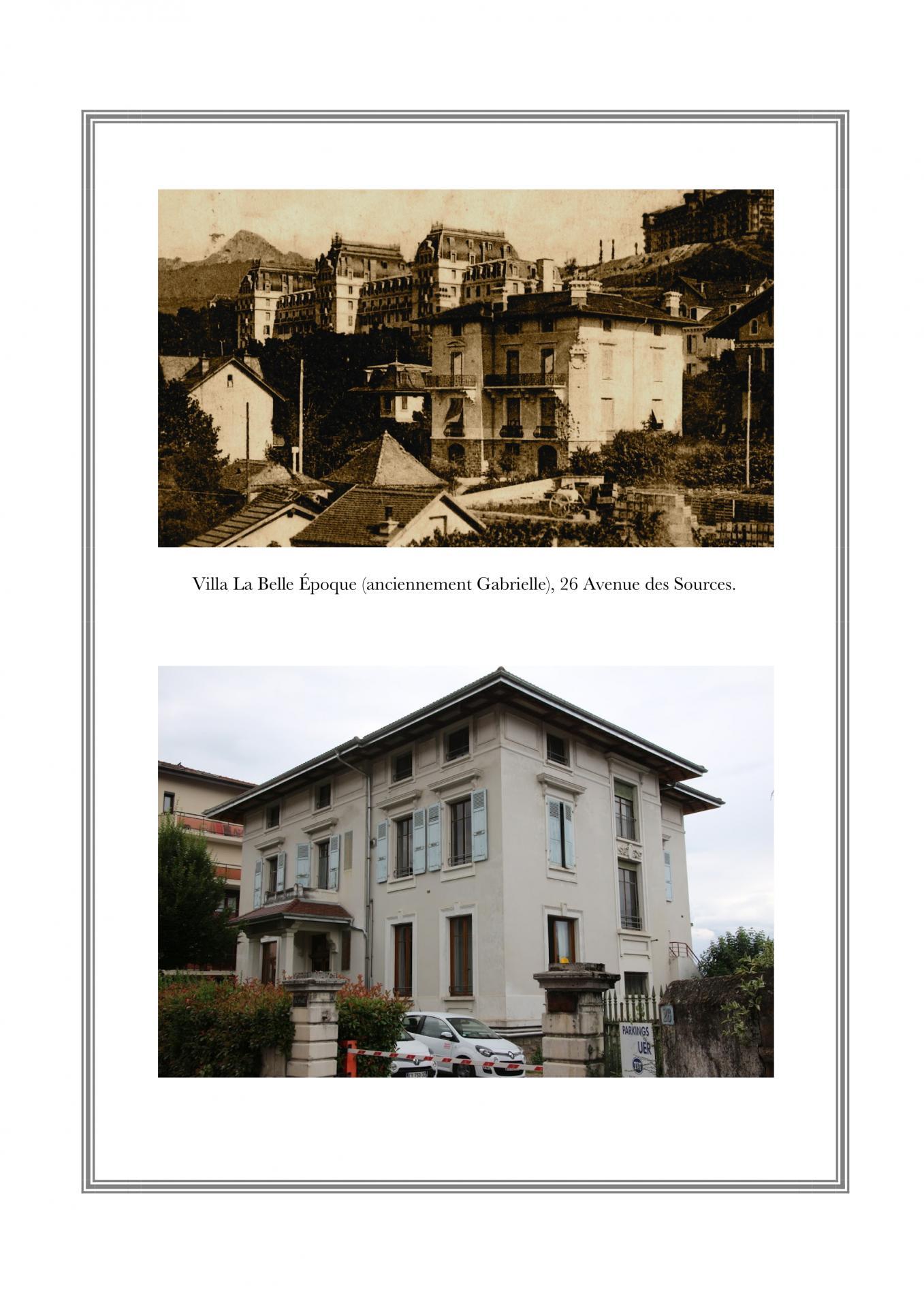 Villa Gabrielle (La Belle Époque), 26 avenue des Sources
