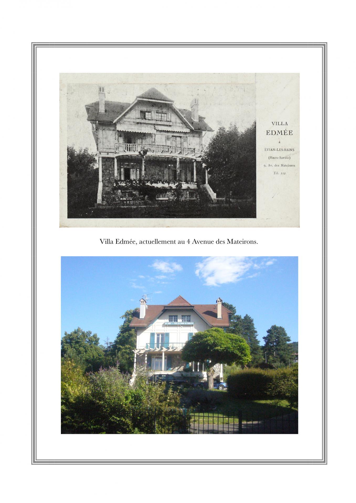 Villa Edmée, 4 avenues des Mateirons