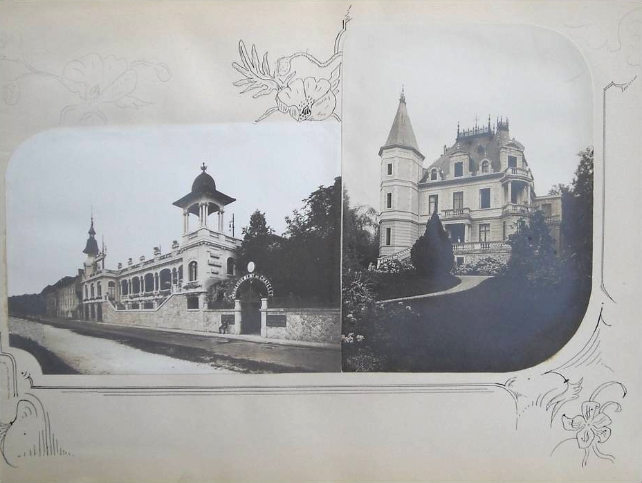 L'établissement thermal et la grande Villa