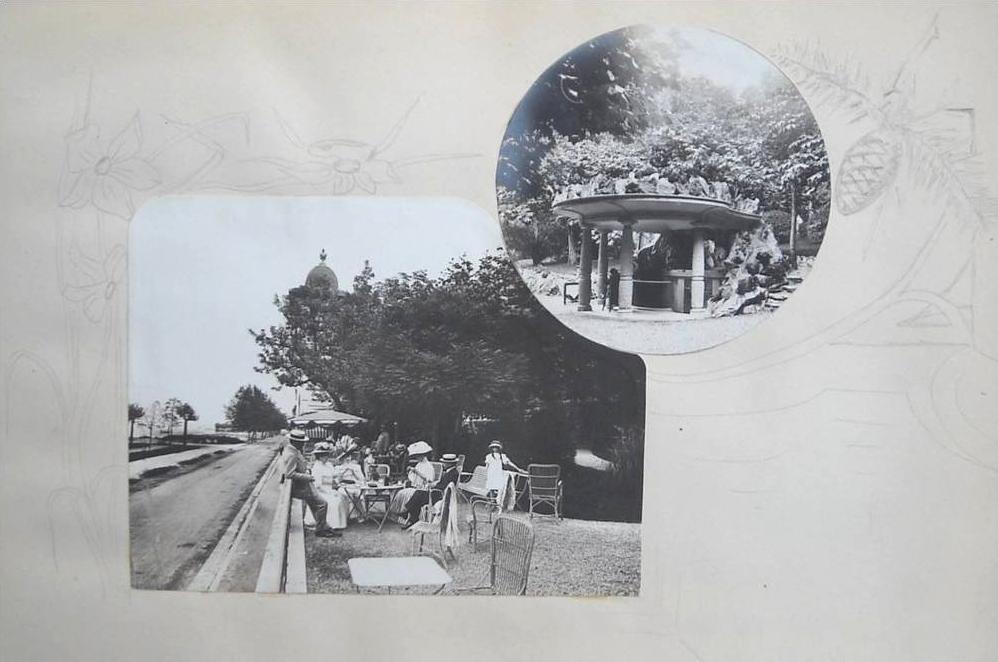 Petite buvette et terrasse du jardin de la Villa