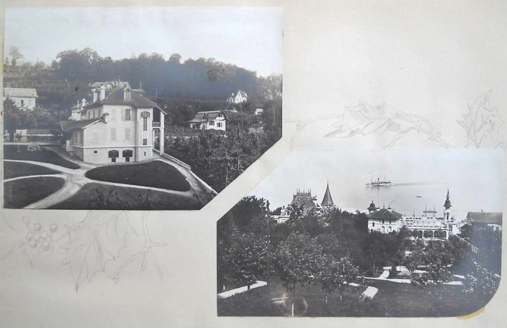 Bâtiment des communs et vue depuis l'hôtel