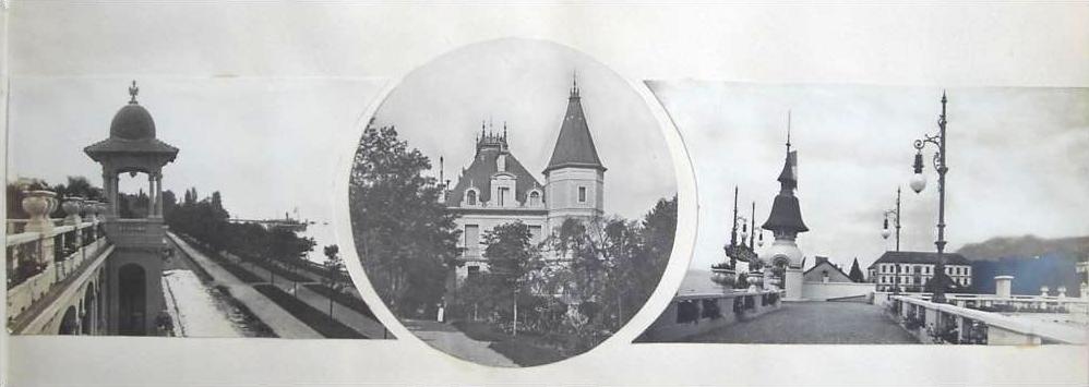 Vue sur la grande villa du Châtelet
