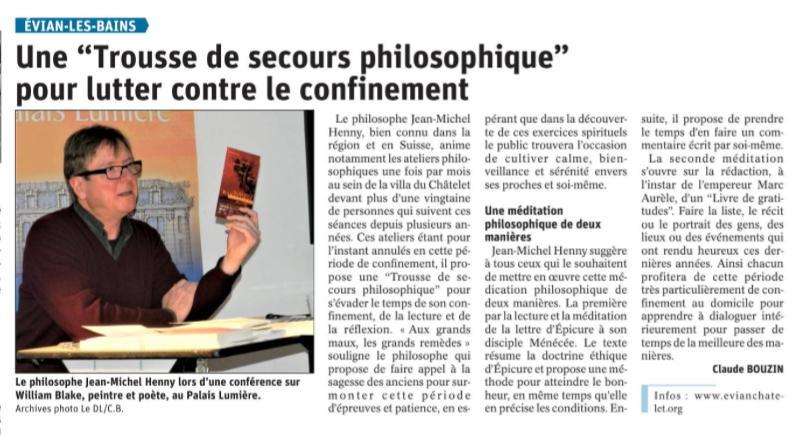 Article trousse de secours philosophique dauphine 28032020